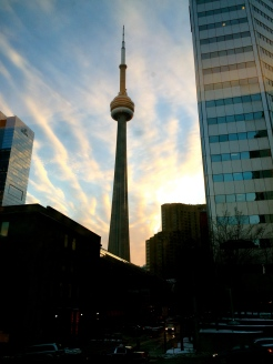 The CN Tower from Union Station.