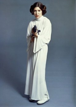 The original costume from A New Hope. Those buns though.